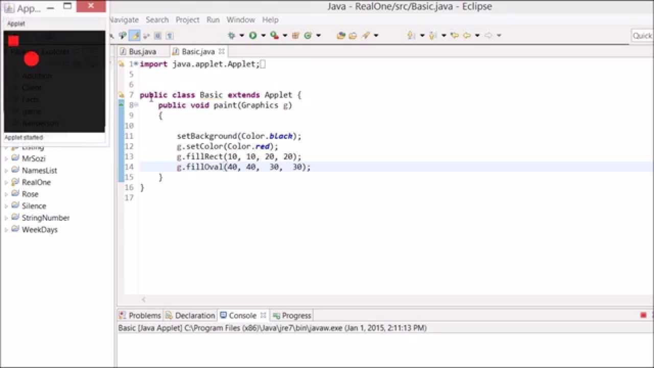 Drawing Smooth Lines In Java : Basic java drawing an oval and a rectangle youtube