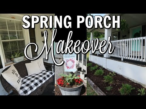 SPRING PORCH MAKEOVER / PLANTING AND DECORATING