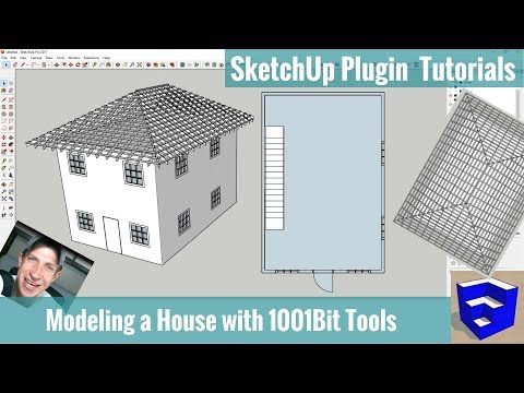 Modeling a House in SketchUp with 1001bit Tools - SketchUp
