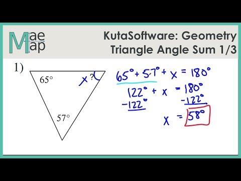 KutaSoftware: Geometry- Triangle Angle Sum Part 1