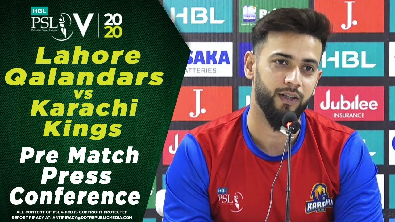 Imad Wasim Pre Match Press Conference | Lahore Qalandars vs Karachi Kings| HBL PSL 2020