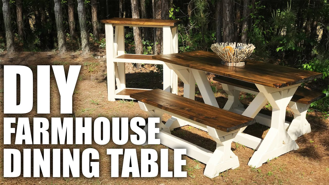 Diy Farmhouse Style Dining Table With Build Plans Youtube
