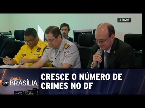 Cresce o número de crimes no DF