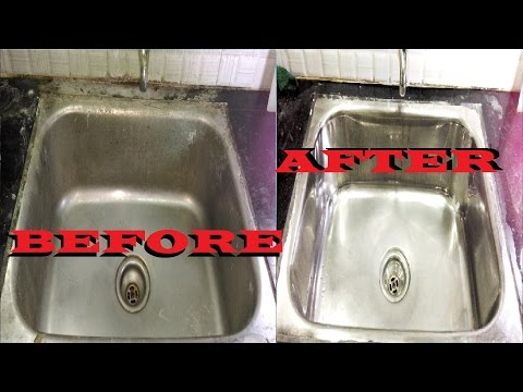 How To Clean Your Kitchen Sink ||  How to Clean a Kitchen Stainless Sink