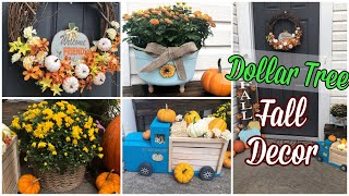 DOLLAR TREE Fall Decor |DIY Porch Decor