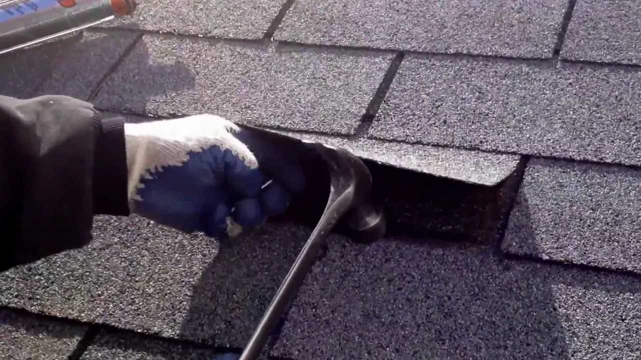 RELACING PART OF A DAMAGED ROOF SHINGLE   YouTube
