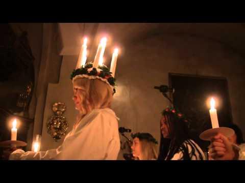Ceciliakörens julkonsert 2015 del1 Lucia