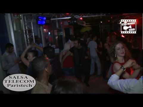 Dj Steeve Belgium, Brice, Seida, Mélanie... social dancing @ SALSA TELECOM Paritech (ENST)