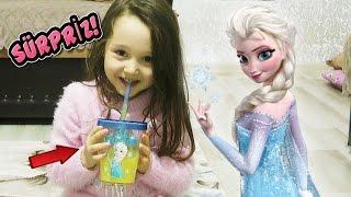 Öykü'yü MUTLU EDEN SÜRPRİZ - Frozen glass Toys