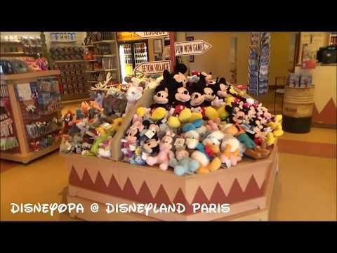 Disneyland Paris Hotel Santa Fe Trading Post Shop walkthrough 2017 DisneyOpa
