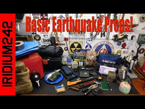 Basic Earthquake Preparedness Items And Tips