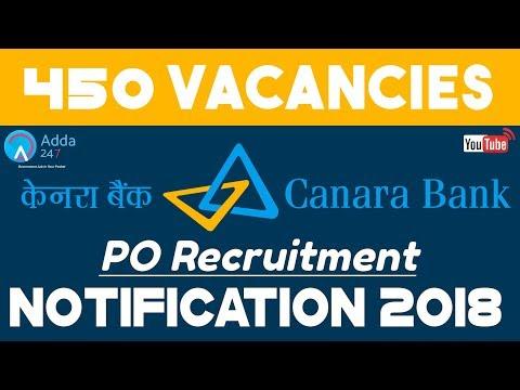 Vacancy Alert   Canara Bank PO Recruitment 2018   450 VACANCIES