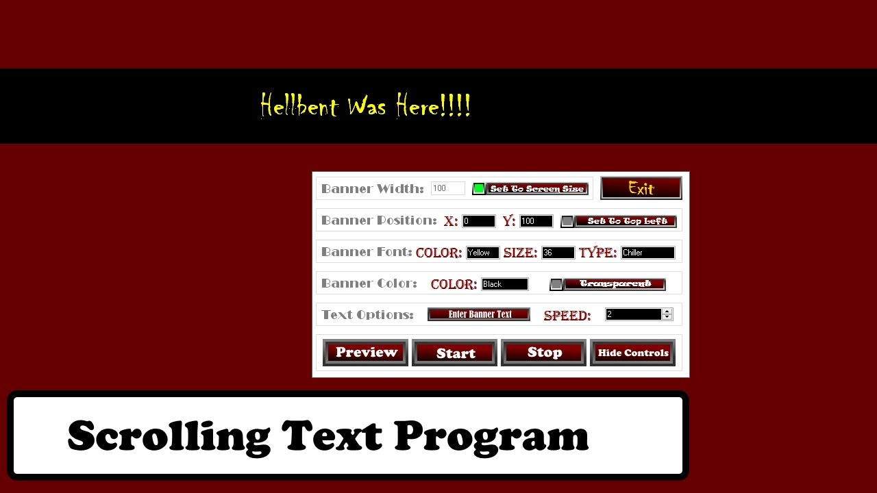 how to create scrolling text