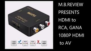 xbox one  Video Audio Converter av to HDMI  1080P GANA