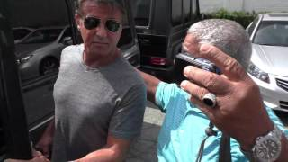 Sylvester Stallone on if Rocky could take Ronda Rousey while shopping in Beverly Hills