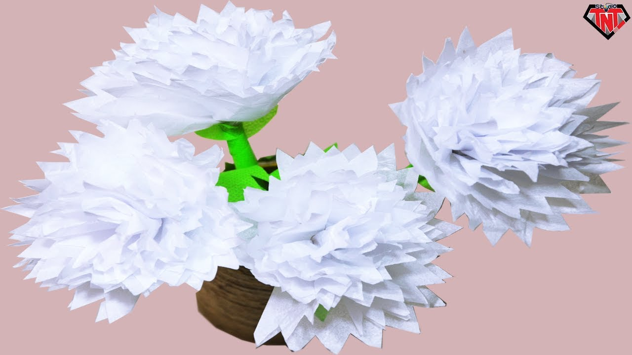 how to make a lotus flower out of tissue paper