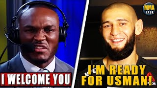 Kamaru Usman RESPONDS to Khamzat Chimaev's callout, Dana SQUASHES beef with Colby, Jones slams Costa