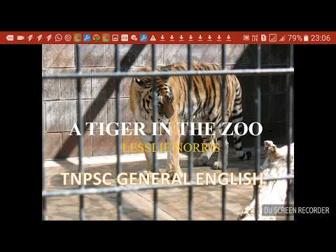 Tnpsc grp2A|GENERAL ENGLISH| A TIGER IN THE ZOO|POEM