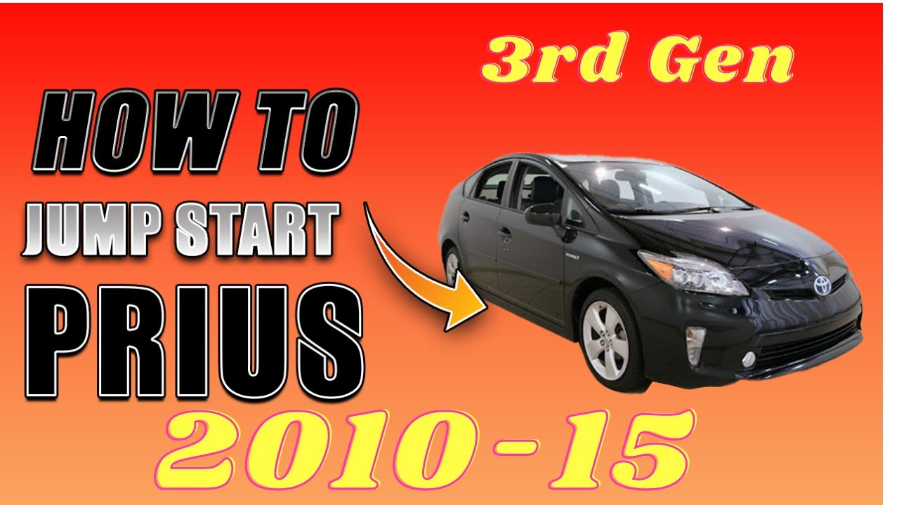 Prius Jump Start Done Safely 2010 2017 Toyota Not Starting