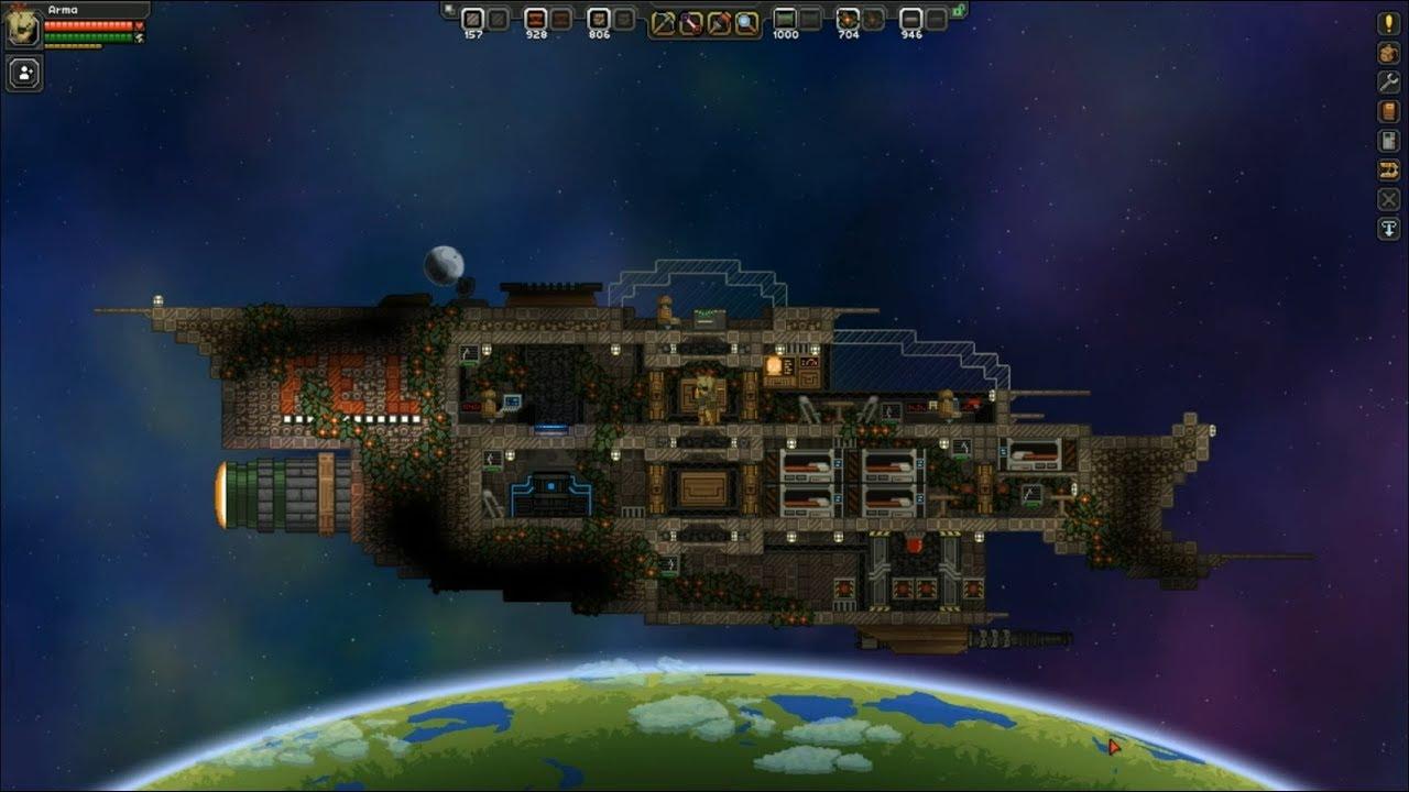 Starbound ship building timelapse - FEL