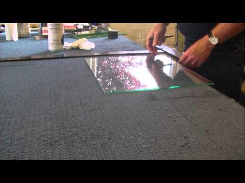 cutting laminated safety glass