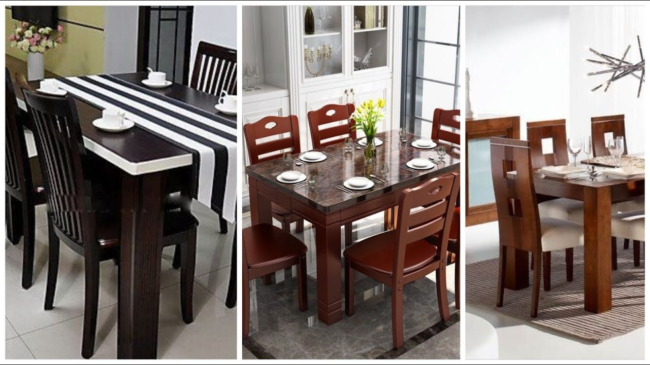 Wooden Dining Table Chairs Tables Furniture Decoration Design Ideas Youtube