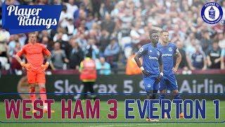West Ham United 3-1 Everton | Player Ratings