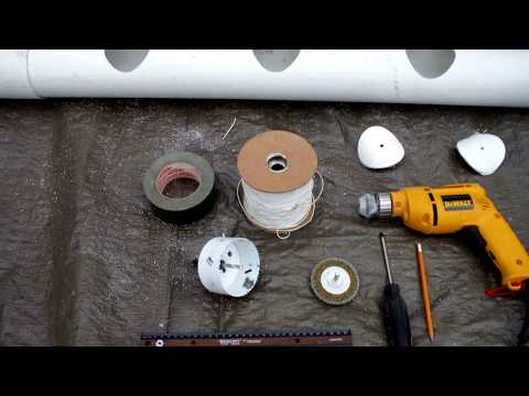 Garden Vegetables Hydroponics  - Preparing PVC tubes with Solar Powered Automatic Watering System