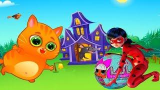 КОТИК БУБУ #12  Котик подарил шар LOL леди БАГ Мультик ИГРА про котят на канале УШАСТИК KIDS
