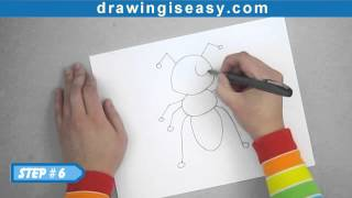 How to draw a cartoon ant - EP