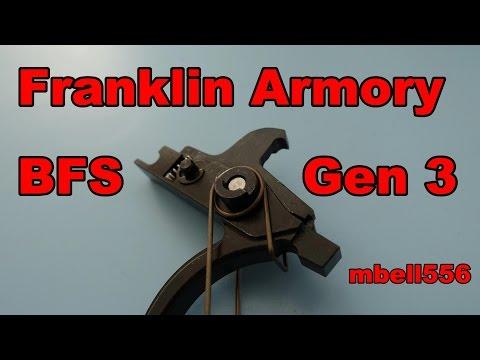 Franklin Armory Binary Trigger Gen 3 Bfs Vs Gen 2 Bfs Vs Fostech Echo Shop Review And Comparison Youtube