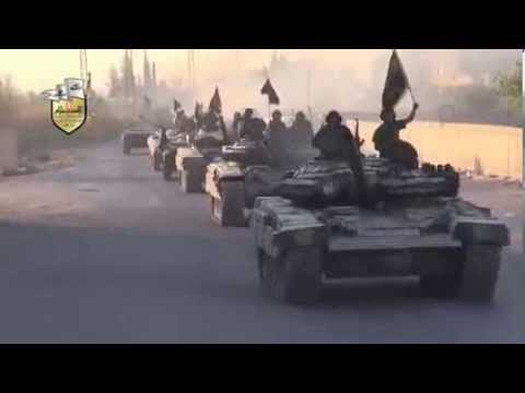 Syria Rebel Tank Convoy Advances on Dictator s Frontlines in Rural Damascus