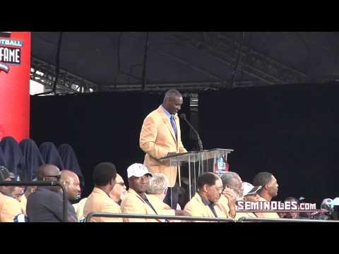 Derrick Brooks 2014 Hall of Fame Speech