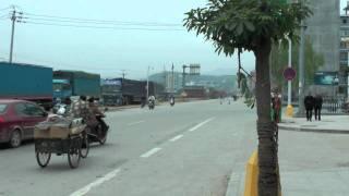 中国福建省福安市賽岐鎮 街の様子/intersection in fuan, ningde, fujian, china