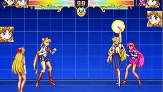 Mugen:sailor moon,super sailor venus team arcade