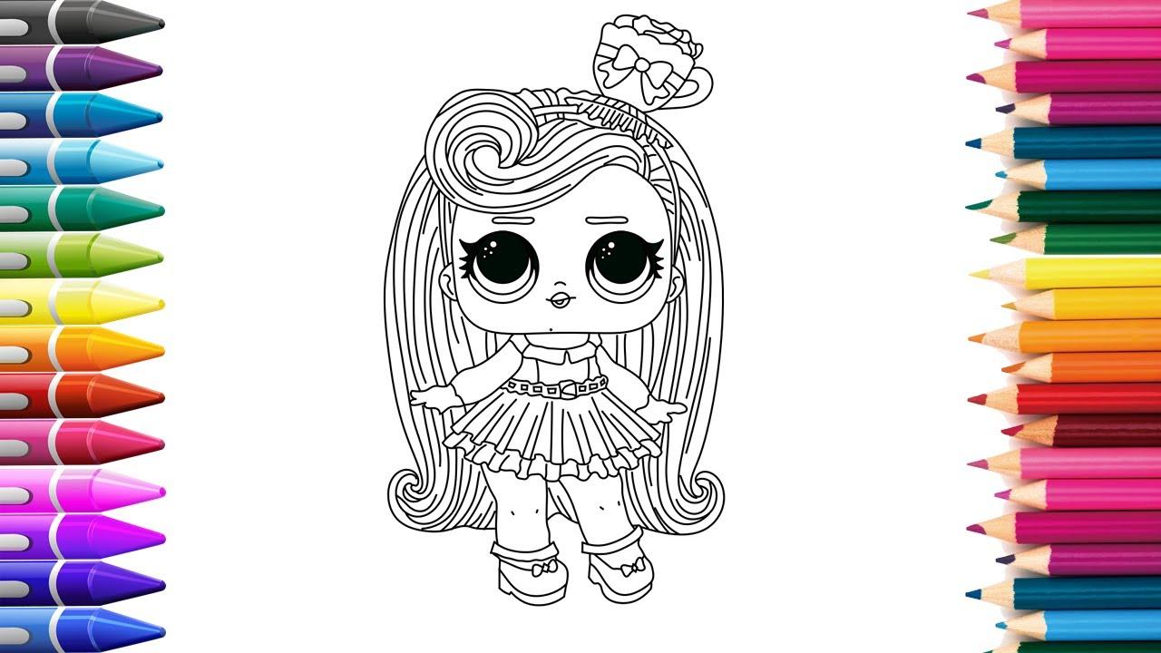 Кукла Лол | Рисуем Куклу Лол | Учимся рисовать Раскраски ...