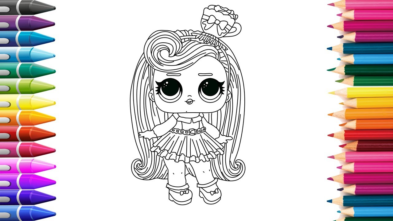 16+ Кукла Лол Перчинка Раскраска