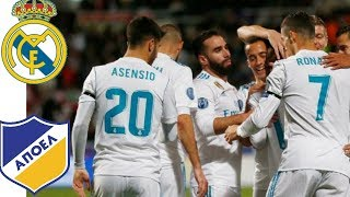 Real Madrid vs Apoel 6-0 •22/11/17• UCL Full Match Extended Highlights and Goals