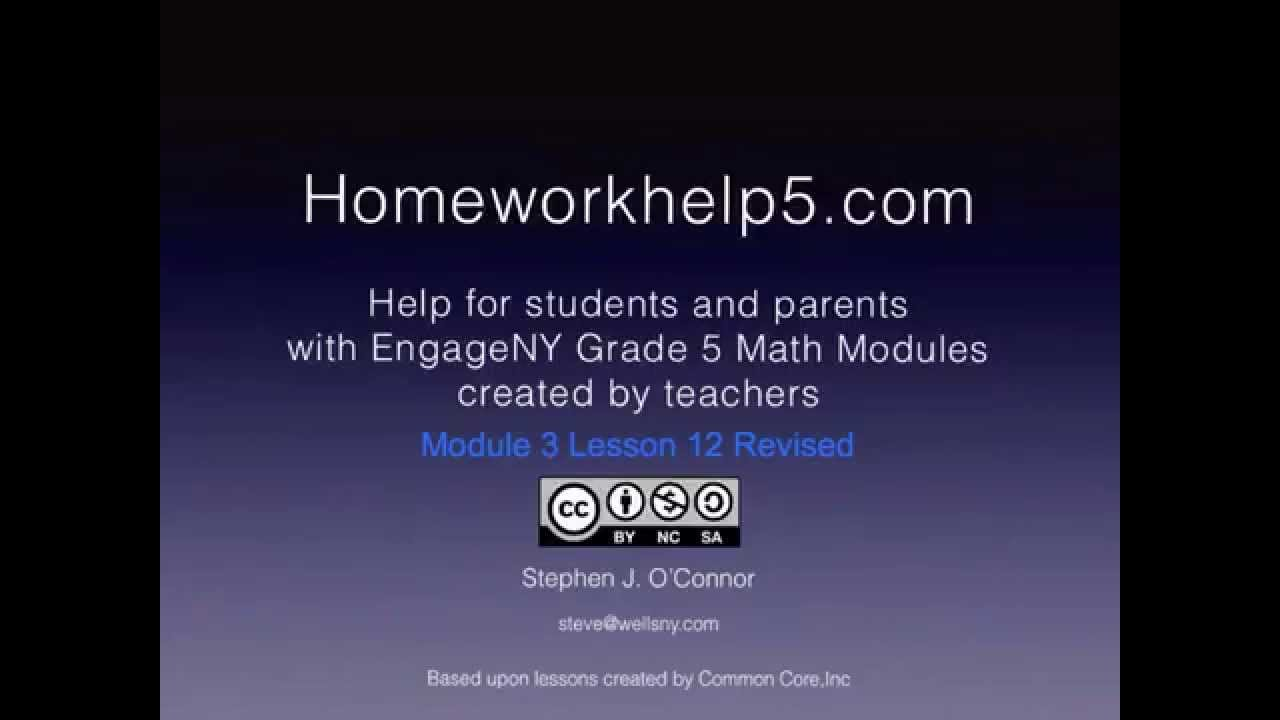 Grade 5 EngageNY Eureka Math Module 3 Lesson 12 Revised