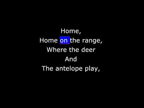 Songs - Traditional - Home, Home on the Range