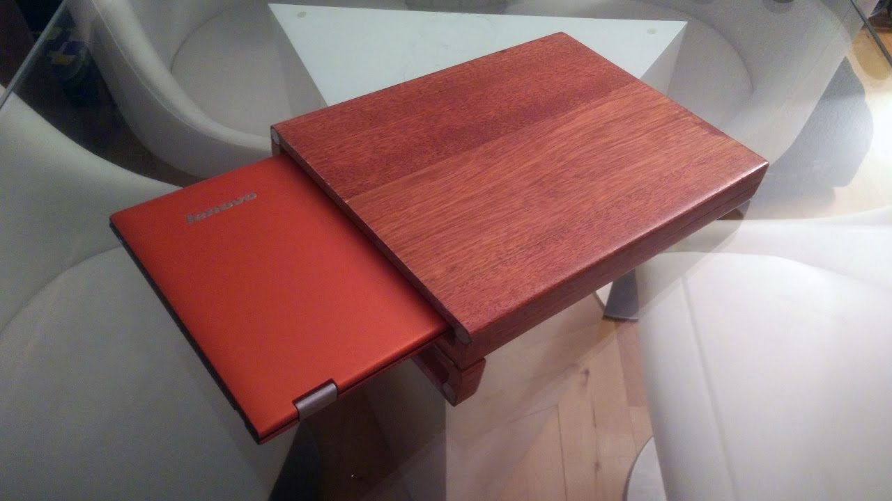wooden laptop case - YouTube