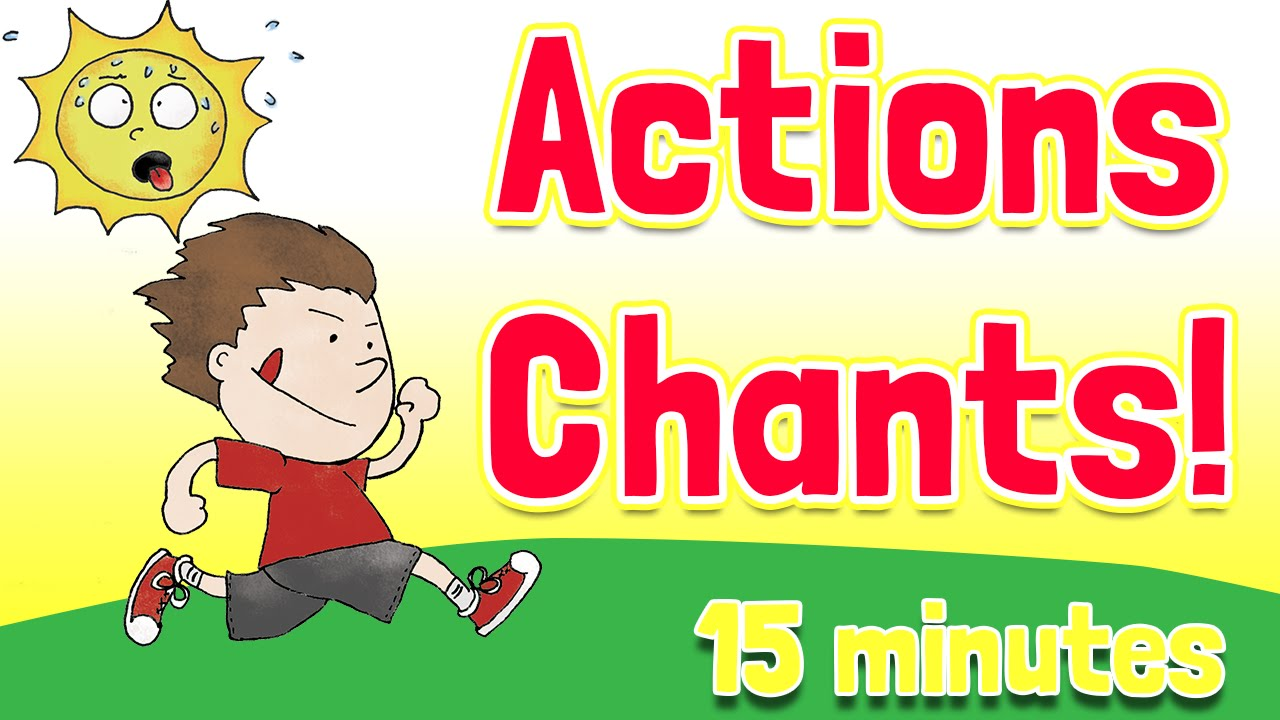 action verbs chants and songs collection by elf kids videos youtube - Action Berbs