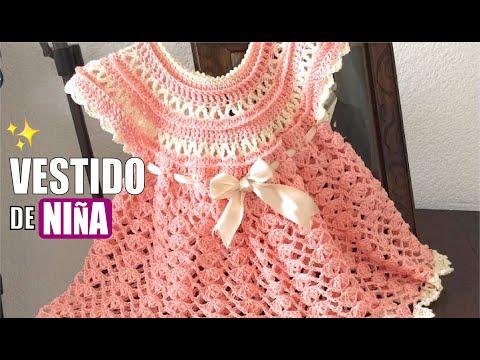 TEJE VESTIDO ROSY PARA NIÑA - Crochet fácil y rápido - Yo Tejo con LAURA CEPEDA