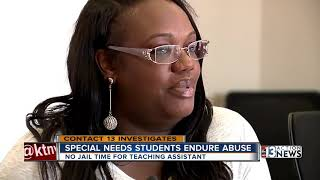 Teacher's aide abused special needs students