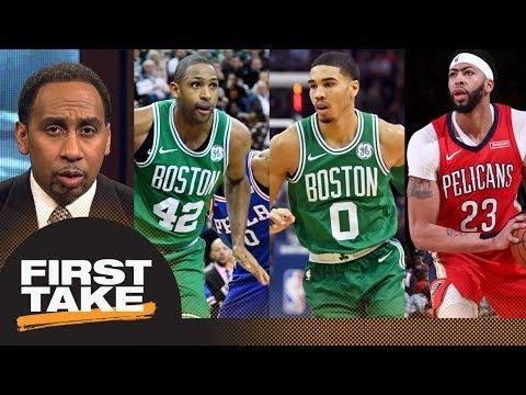 Stephen A.: Celtics should trade Al Horford and Jayson Tatum for Anthony Davis | First Take | ESPN