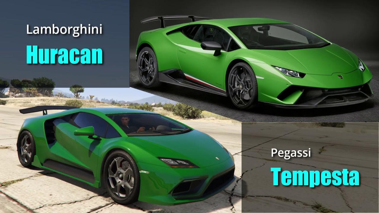 GTA V Cars Vs Real Life Cars #1