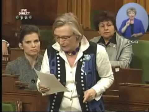 Hon. Carolyn Bennett (St. Paul's) asks question about women's groups and maternal health