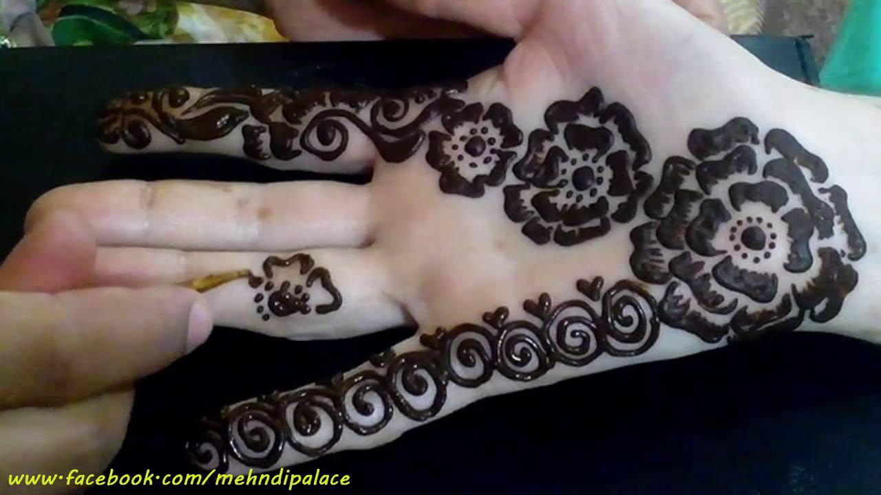 Mehndi Front Side : Henna mehndi design front hand unique arabic style by