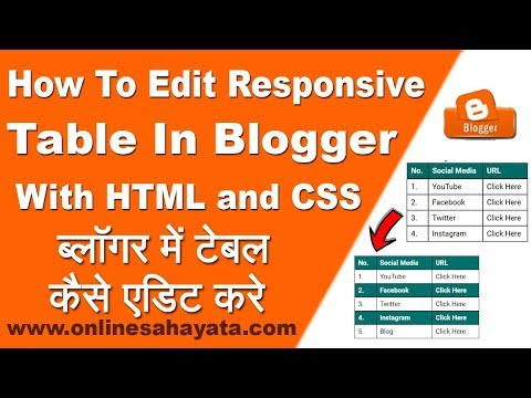 How To Edit Responsive Table In Blogger With HTML And CSS   Step By Step Full Process