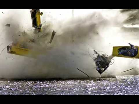 Hydroplane Flips, Crashes, and a Fire